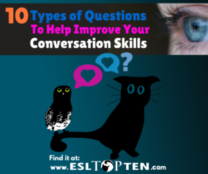 10 types of questions to Improve Conversation