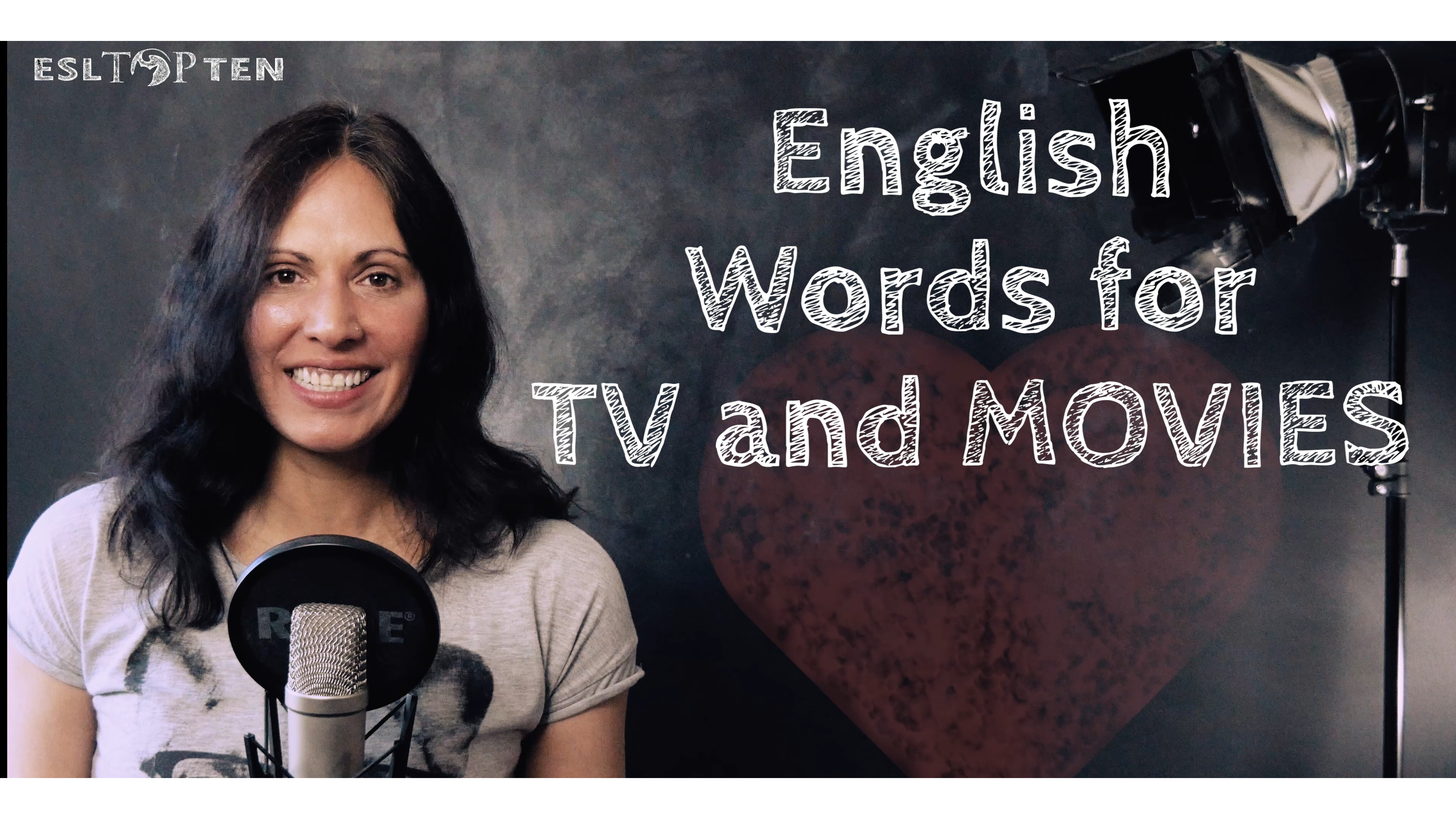 English Words for TV and Movie