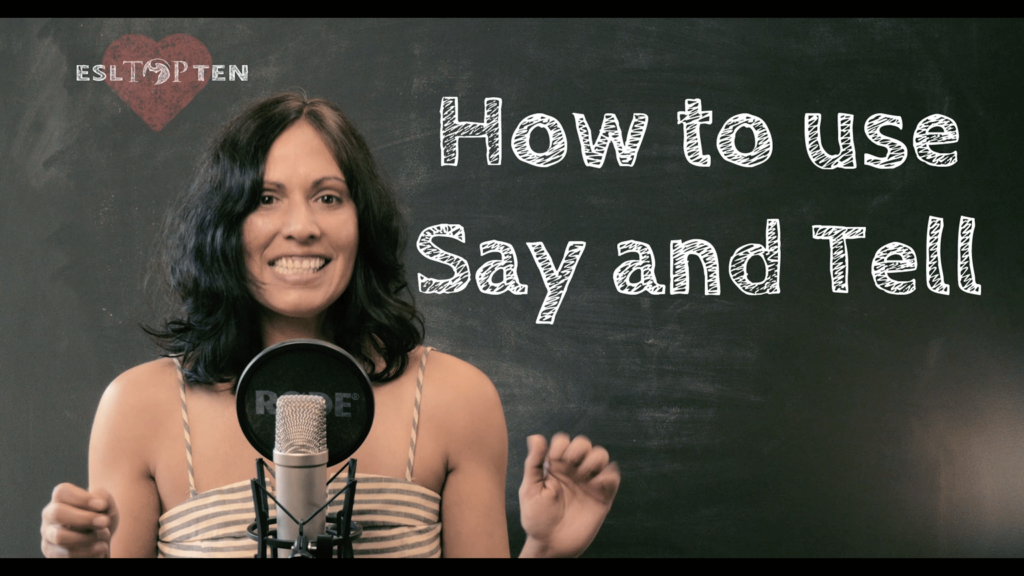 How to Use Say and Tell