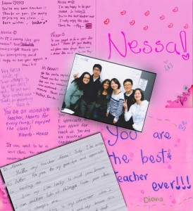 cards for Nessa from students