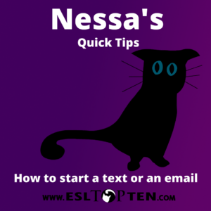Nessa's Quick Tip how to start an email