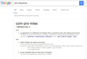 google search for definition of compromise